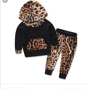 Other - Baby Girl leopard hoodie and pants